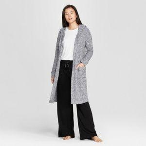 Gilligan & O'Malley Women's Gray Cozy Chenile Robe